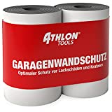 ATHLON TOOLS 2x FlexProtect Garagen-Wandschutz - je 2 m lang - Extra Dicker Auto-Türkantenschutz,...
