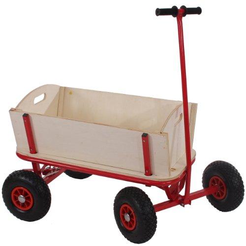 Mendler Bollerwagen Handwagen Leiterwagen Oliveira - ohne Sitz, mit Bremse, ohne Dach