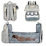 Lifelf Baby Wickelrucksack als Kinderbett mit großer Kapazität Wickelunterlage Kinderwagengurte,...