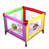 BABLE BB-P1 Babybett Kinder Baby Reisebett Playard Klappbett Laufstall mit Matratze (Mehrfarbig)