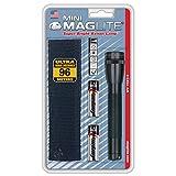 MAGLITE Mini Maglite Glühlampe 2AA Taschenlampe schwarz Holster Pack