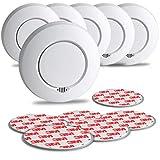 SEBSON Funk Rauchmelder austauschbare Batterien, vernetzbar (GS412), DIN EN 14604, fotoelektrischer...