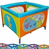 Infantastic Reisebett Kinderbett Klappbett Farb- und Musterwahl inkl. Matratze, Tasche & Spielringe