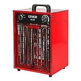 STIER Basic Heizlüfter, elektrisch, Heizleistung von 9,0 kW, Luftleistung 1150 m³/h, Heizgebläse...