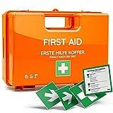 Erste-Hilfe-Koffer DIN 13157 inkl. 4 Aufklebern, Wandhalterung und 90 Grad Arretierung für...