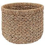 Decorasian Korb Aufbewahrung rund geflochten nachhaltig aus Seegras - 35cm
