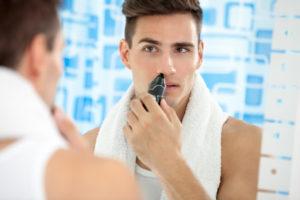 Nasenhaar entfernen